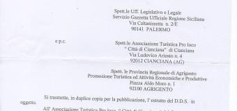 "DECRETO REGIONALE ""riconoscimento Pro Loco"""